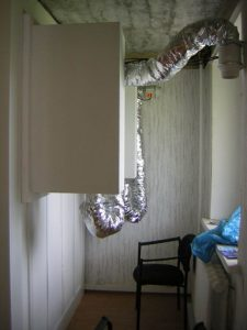 Кабина оснащена системой шумоглушения для воздуховодов вентиляции.