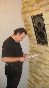 Сергей Царский приехал в Питер провести акустические измерения.