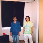 Мурат Насыров и работник Аудиостопа Андрей Быков в уже закконченной студии.