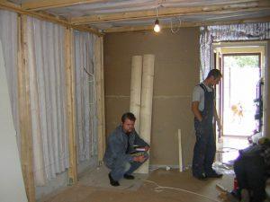 Этапы монтажа. Подвесной потолок будет иметь тканевую отделку - единственный путь избежать дребезга металических потолочных подвесных систем.